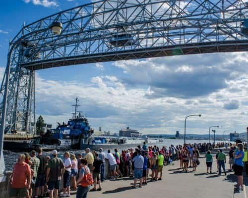 Duluth's Lift Bridge in the Raised Position