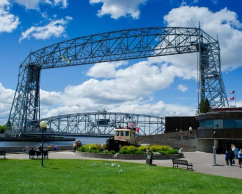 Duluth's Lift Bridge in Lowered Position