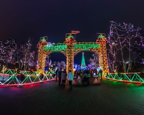 Bentleyville Tour of LIghts Entrance