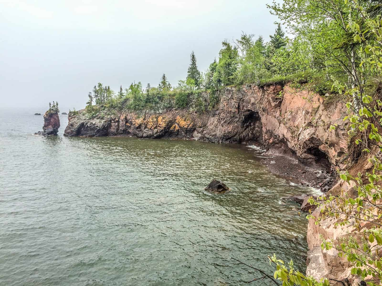 After the Sea Arch Fell at Tettegouche State Park