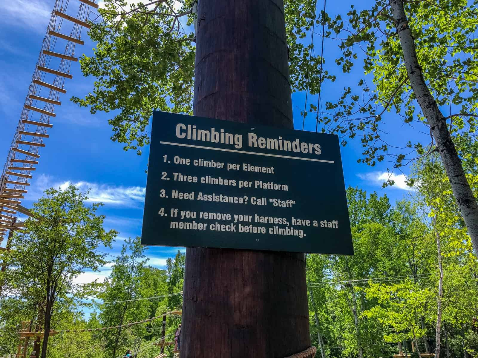 North Shore Adventure Park Rules