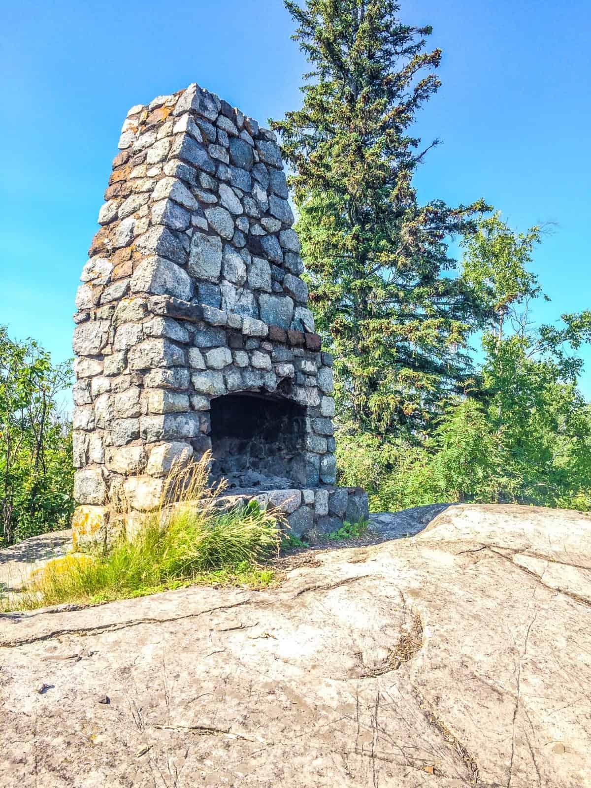 Split Rock Lighthouse State Park Stone Fireplace on Day Hill