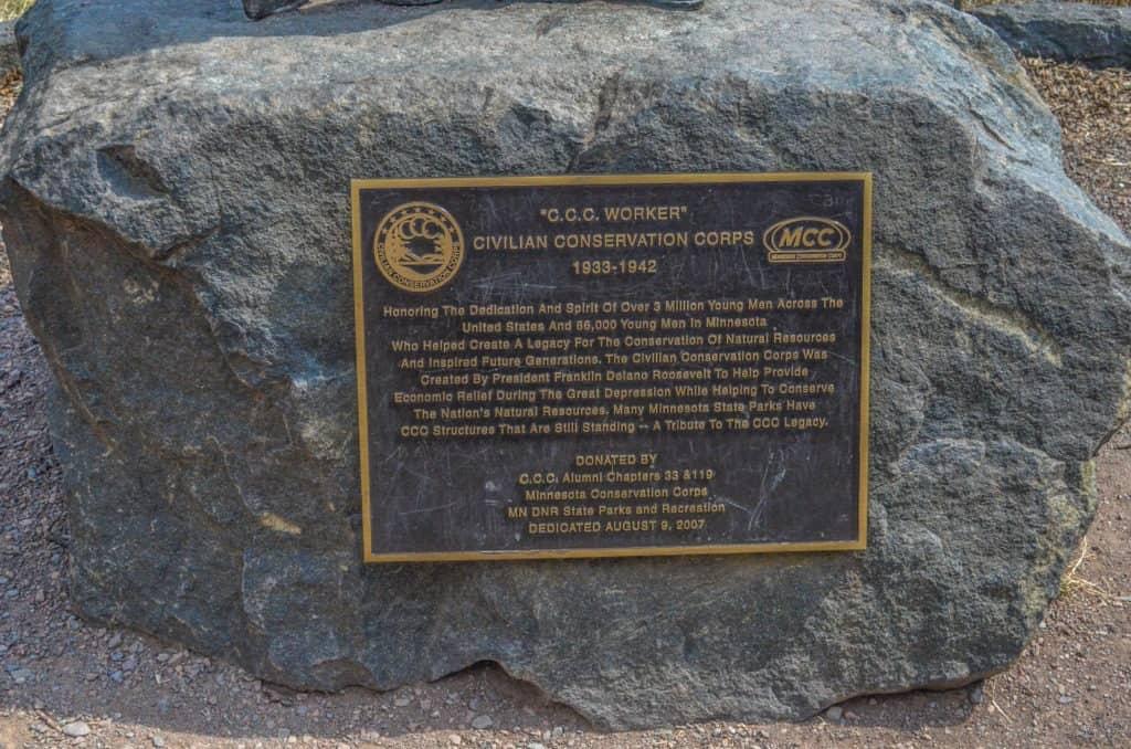 Gooseberry Falls State Park CCC Plaque