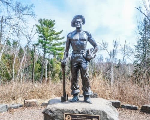 Gooseberry Falls State Park Civilian Conservation Corps Statue