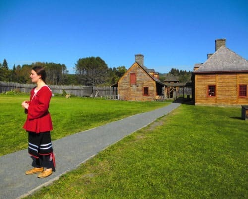 Costumed Interpreter at Grand Portage National Monument