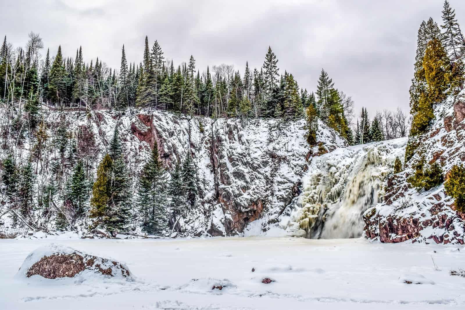 Tettegouche State Park in Winter