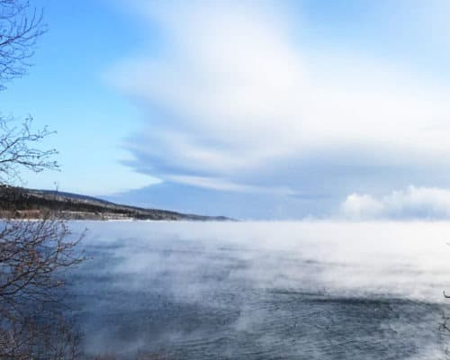 Sea Smoke on Lake Superior Good Harbor Overlook