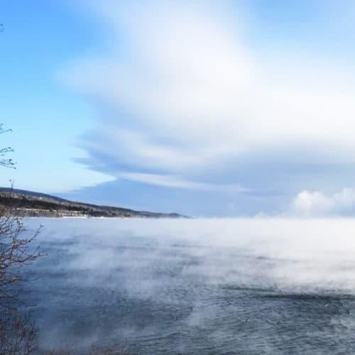 Sea Smoke on Lake Superior Good Harbor Overlook