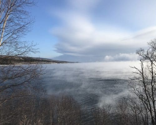 Sea Smoke on Lake Superior at Cutface Creek