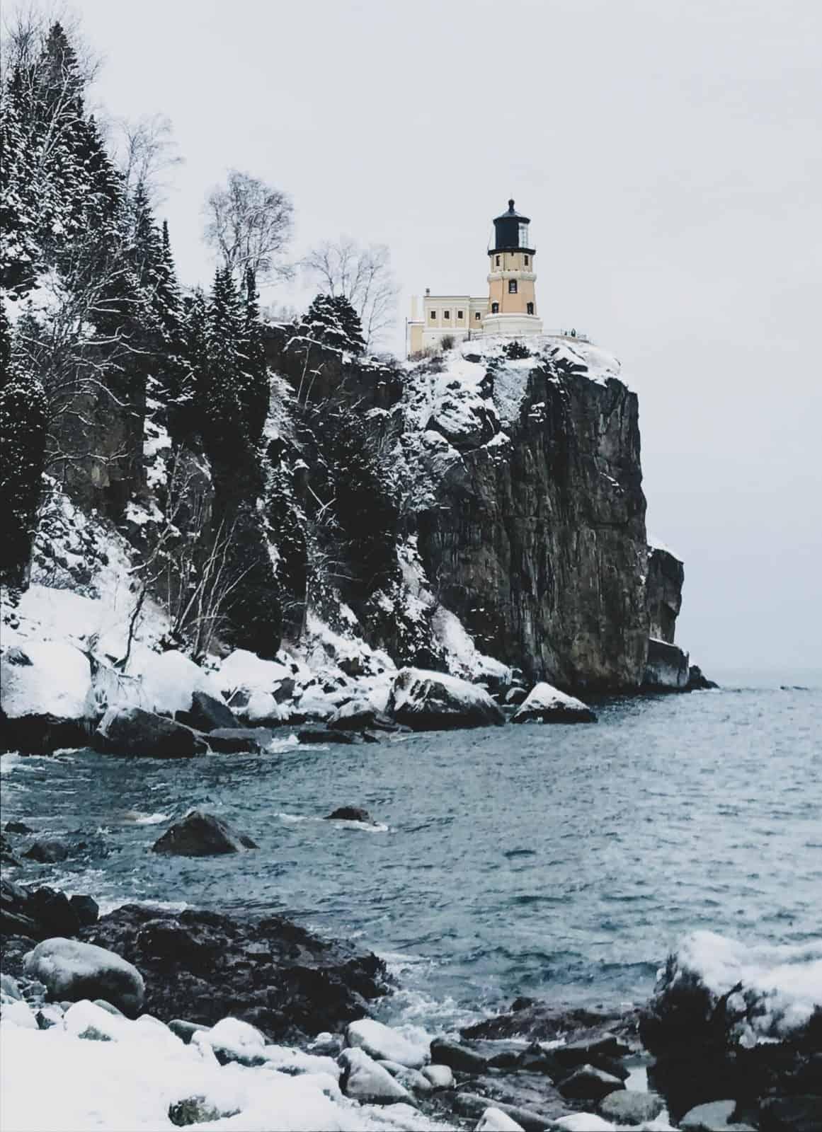 Split Rock Lighthouse State Park in Winter