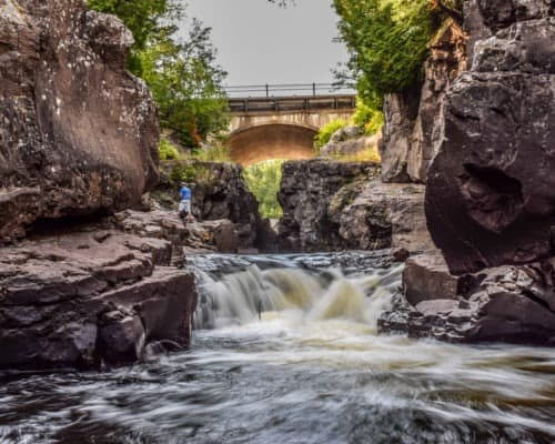 Waterfall on Temperance River