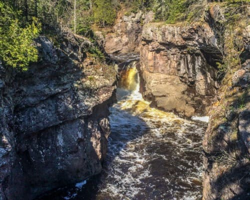 Waterfall at Temperance River State Park