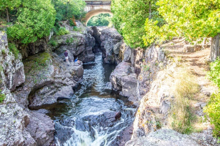 Temperance River at the Temperance River State Park