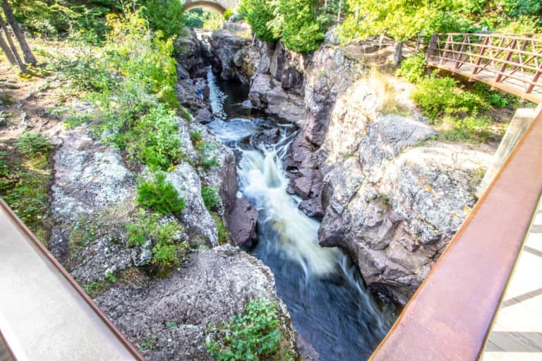 View From Foot Bridge at Temperance River State Park