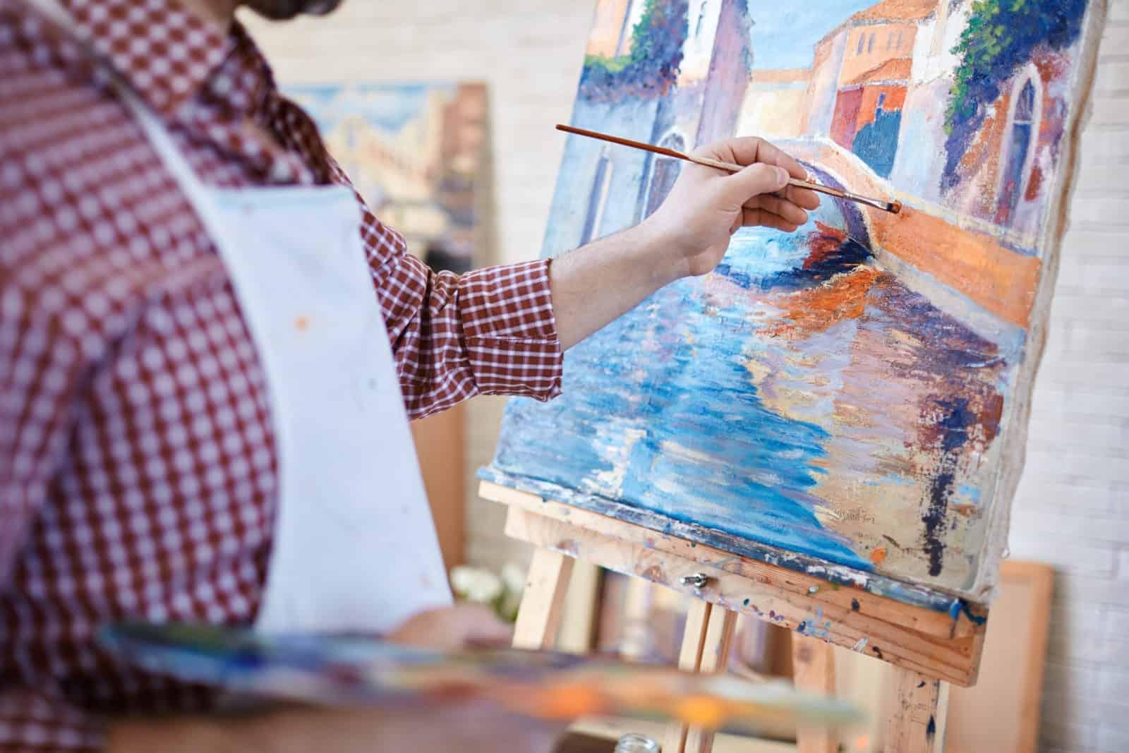 Artist at Grand Marais Art Colony