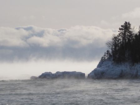 Steam Devils at Artists Point in Grand Marais