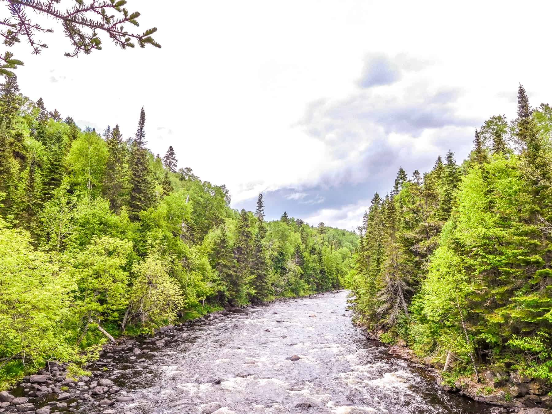 The Brule River runs through Judge CR Magney State Park