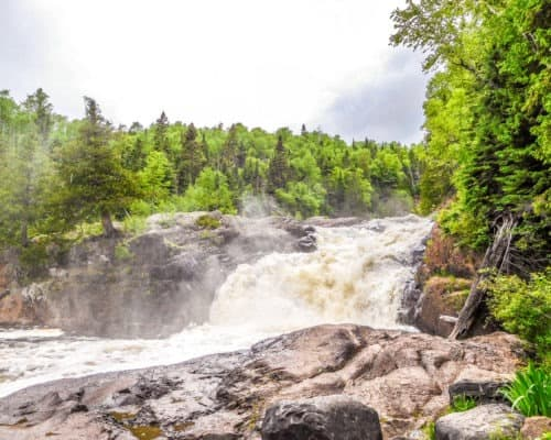 Lower Falls on the Brule River at Judge CR Magney State Park