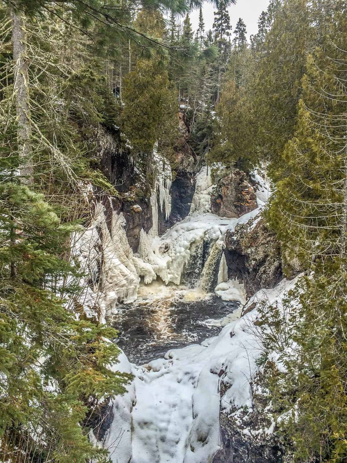 Frozen Falls at Cascade River State Park