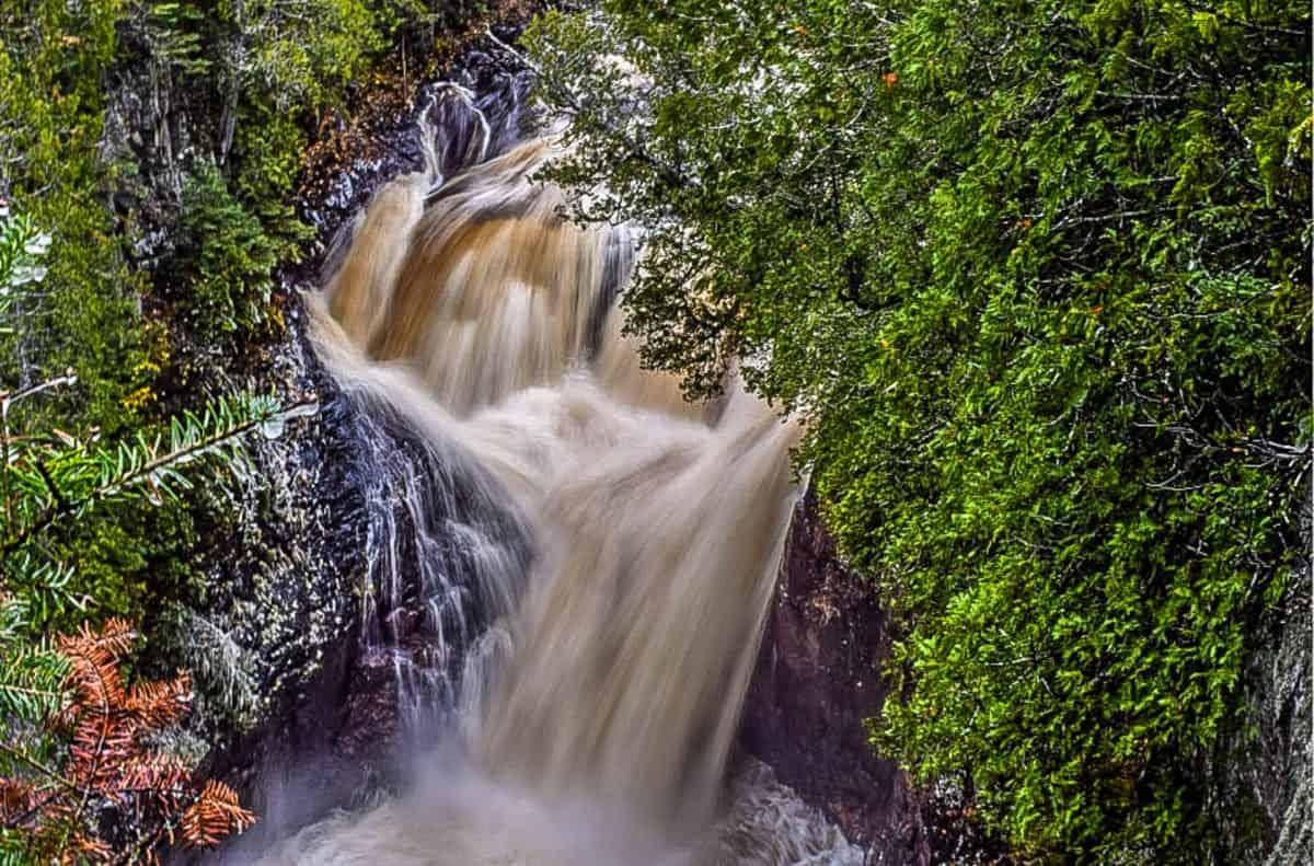 The Devil's Kettle Waterfall During Waterfall Season