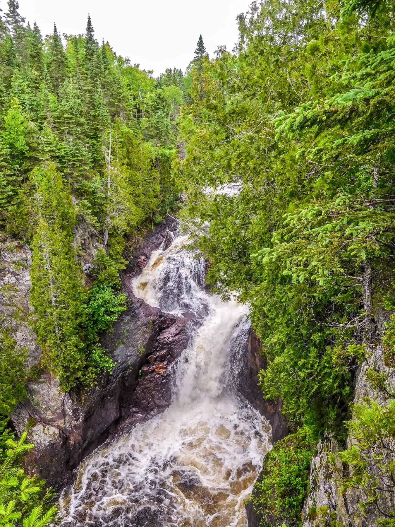 The Devil's Kettle Waterfall During Normal Water Flow