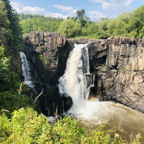 Grand Portage High Falls from the upper viewing area on the US side