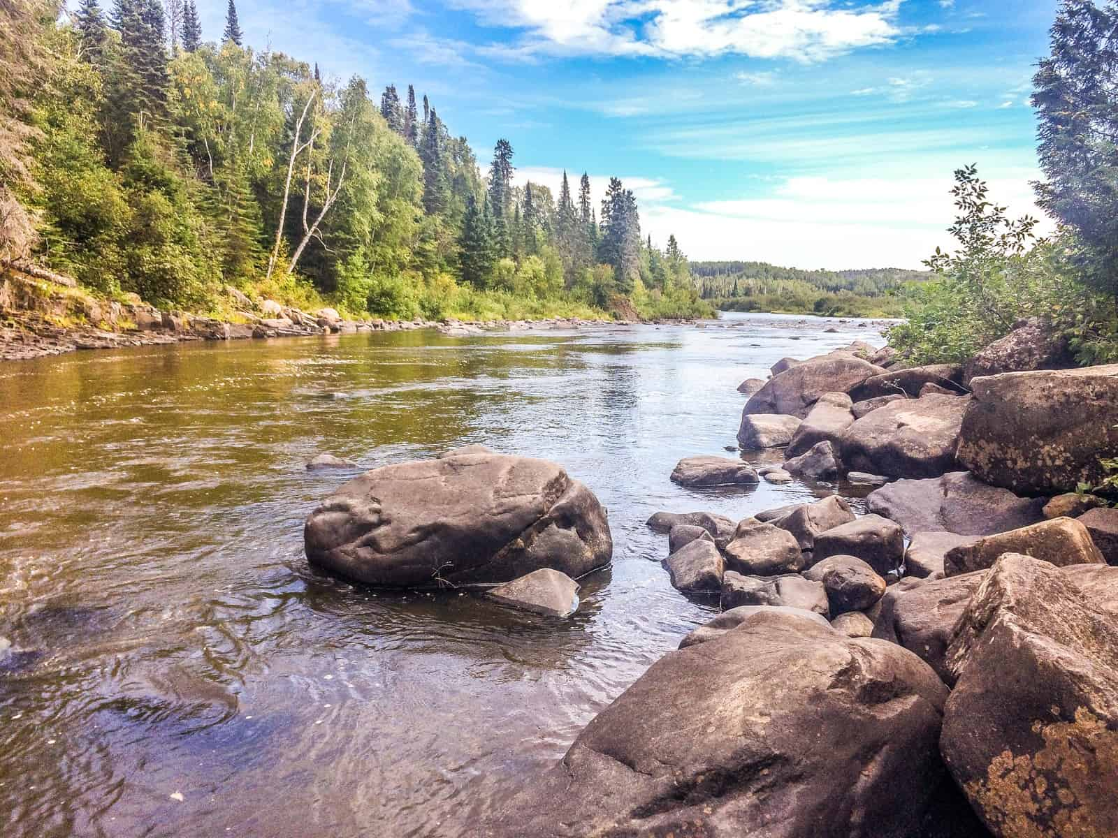 The Pigeon River at Grand Portage State Park