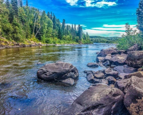 Pigeon River at Grand Portage State Park