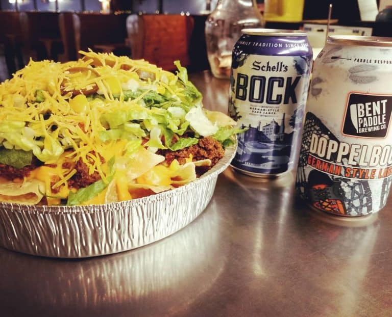 Hungry Hippie Tacos Nachos and Beer