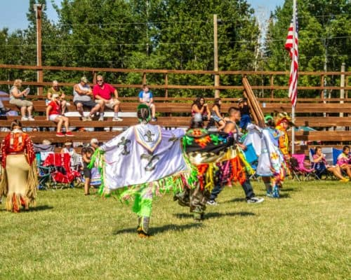 Ojibwe Dancers at Grand Portage Pow Wow