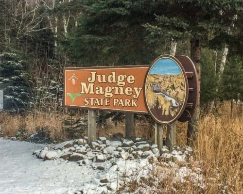 Judge CR Magney State Park home of the Devils Kettle Waterfall near Hovland Minnesota