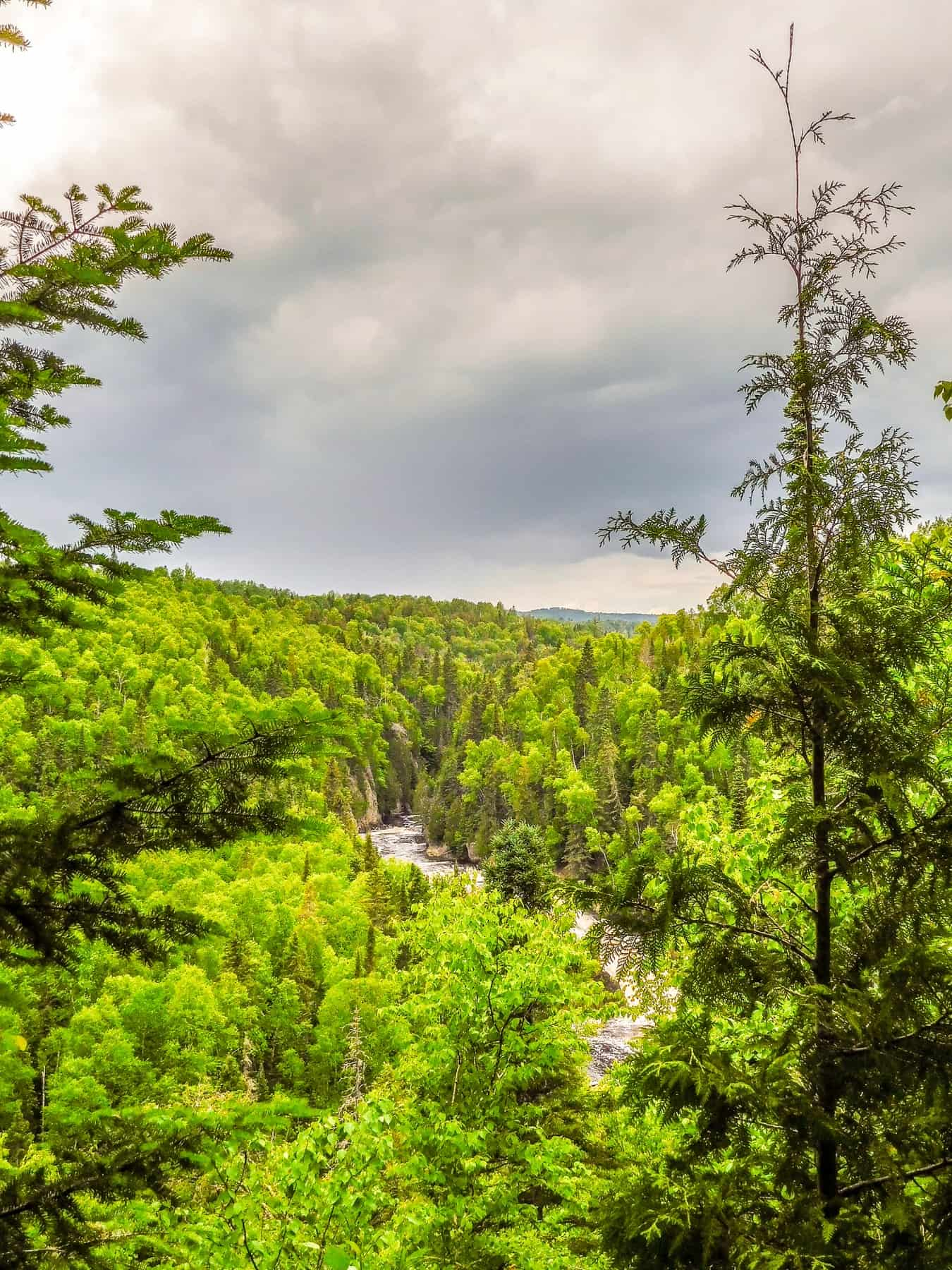 The Brule River flows through Judge CR Magney State Park