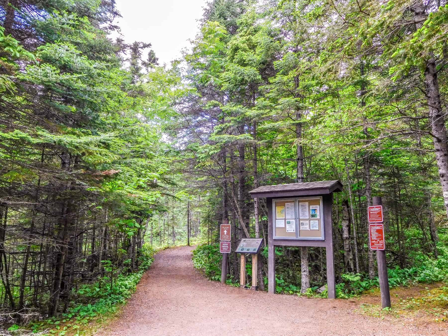 Judge CR Magney has several miles of hiking trails