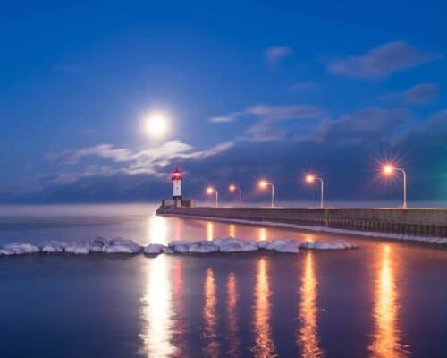 Lighthouse in Duluth's Canal Park