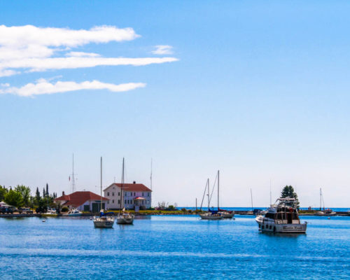 The Grand Marais Harbor