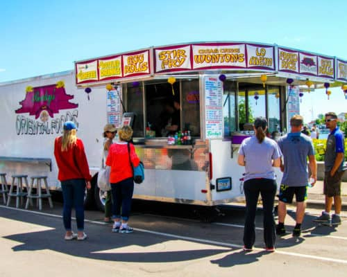 Food Carts in downtown Grand Marais