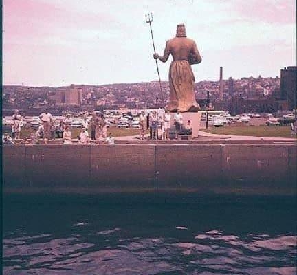 Standing 26-Feet Tall, The King of Netpune overlooks Duluth