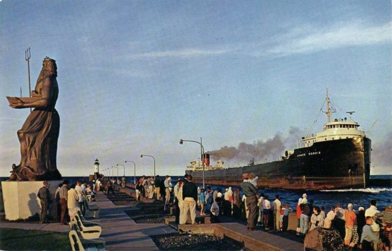 A Passing Ship in Canal Park