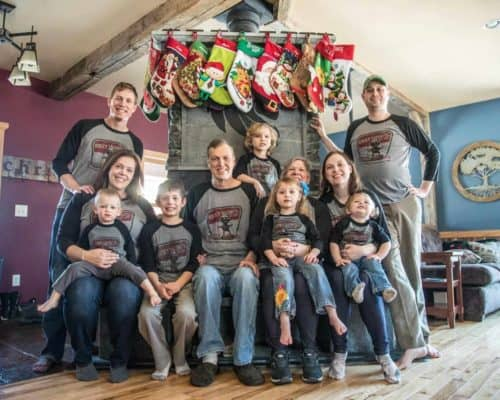 My Family's Rocky Taconite 3/4 Tee Christmas Photo