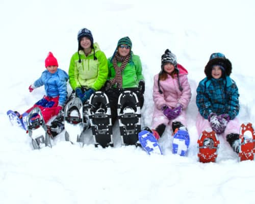 Snowshoeing can be fun for the whole family- even kids!
