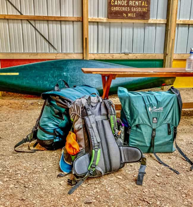 Packing up at Sawbill Canoe Outfitters